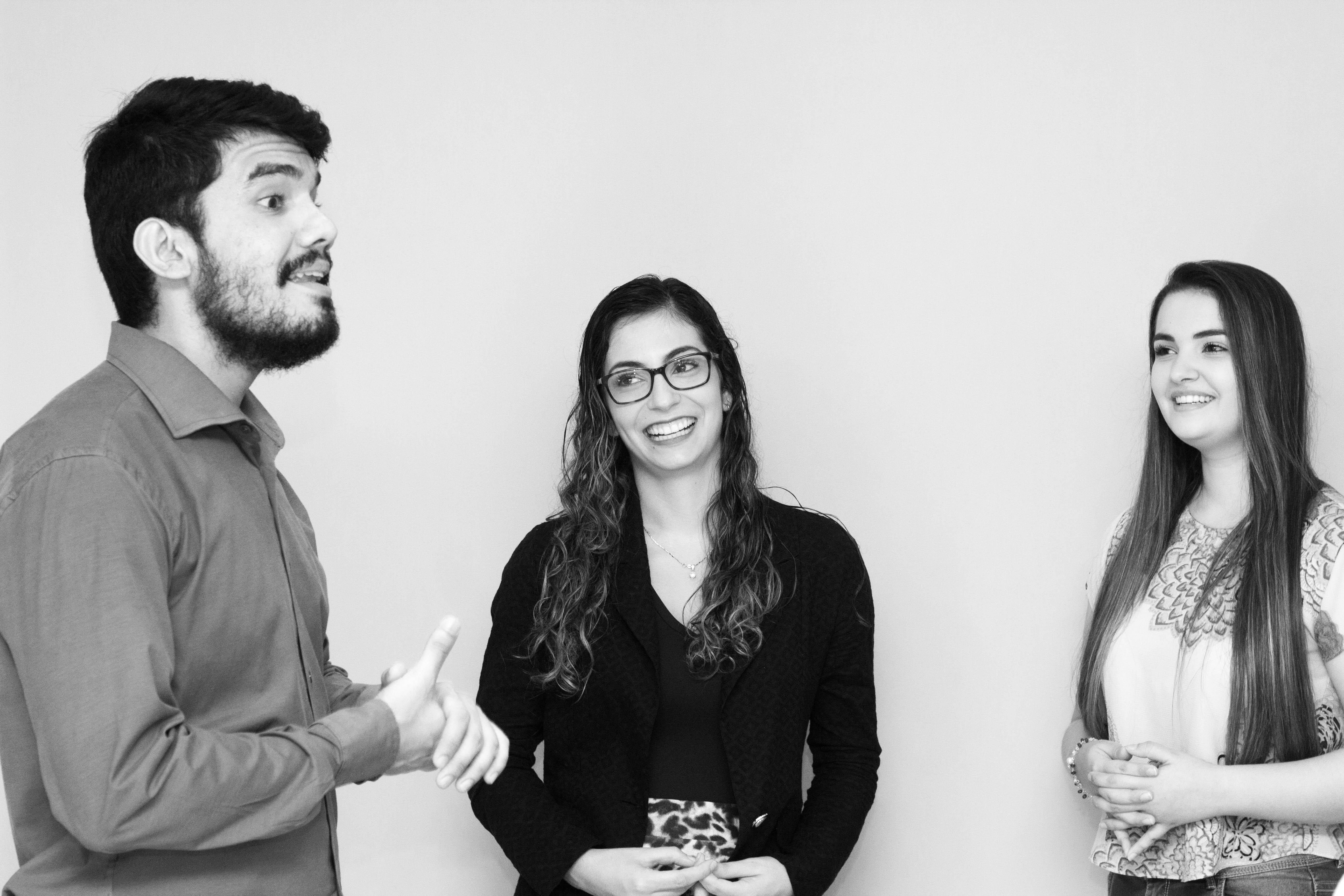 three teenagers talking